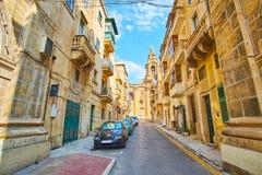 Οι παλαιές οδοί Floriana, Μάλτα στοκ εικόνες