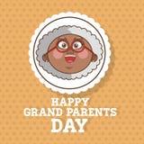 Οι παππούδες και γιαγιάδες σχεδιάζουν, διάνυσμα ανθρώπων Στοκ Εικόνα