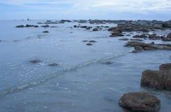 Οι παράκτιοι βράχοι Στοκ Φωτογραφίες