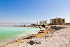 Οι παραλίες στη νεκρή θάλασσα στο Ισραήλ Στοκ Φωτογραφίες