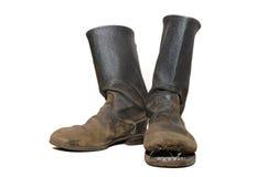Οι παλαιές μπότες στρατιωτών. Στοκ Φωτογραφία