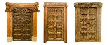 Οι παλαιές ξύλινες πόρτες θέτουν 1 Στοκ φωτογραφίες με δικαίωμα ελεύθερης χρήσης