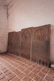 Οι παλαιές πορτογαλικές ταφόπετρες στην εκκλησία του ST Paul ` s είναι ένα ιστορικό κτήριο εκκλησιών σε Melaka, Μαλαισία Στοκ Εικόνες
