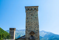 Οι παλαιοί πύργοι σε Svanetia, Mestia, Γεωργία Στοκ εικόνα με δικαίωμα ελεύθερης χρήσης