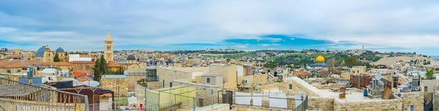 Οι περιοχές της κύριας Ιερουσαλήμ Στοκ φωτογραφία με δικαίωμα ελεύθερης χρήσης