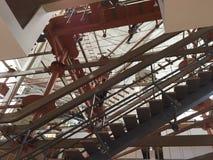 Οι περιφράγματα κεντροθετούν εσωτερικό Skywalk Στοκ Εικόνα