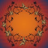 οι πεταλούδες σχεδιάζ&omi Στοκ Φωτογραφία