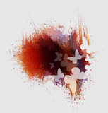 Οι πεταλούδες χρωματίζουν τους παφλασμούς απεικόνιση αποθεμάτων