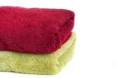 Οι πετσέτες στο λευκό Στοκ εικόνα με δικαίωμα ελεύθερης χρήσης
