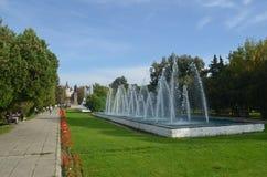Οι πηγές Oradea, Ρουμανία στοκ φωτογραφίες