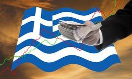 Οι πιστωτές προσφέρουν περισσότερο δάνειο, κρίση χρέους Greece's Στοκ φωτογραφίες με δικαίωμα ελεύθερης χρήσης