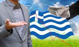 Οι πιστωτές προσφέρουν περισσότερο δάνειο, κρίση χρέους Greece's Στοκ φωτογραφία με δικαίωμα ελεύθερης χρήσης