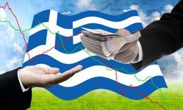 Οι πιστωτές προσφέρουν περισσότερο δάνειο, κρίση χρέους Greece's Στοκ εικόνα με δικαίωμα ελεύθερης χρήσης