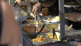 Οι πλανόδιοι πωλητές πωλούν τα αφρικανικά τρόφιμα απόθεμα βίντεο