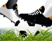 οι ποδοσφαιριστές παίρν&omicr Στοκ φωτογραφία με δικαίωμα ελεύθερης χρήσης