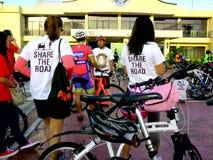 Οι ποδηλάτες συλλέγουν για έναν γύρο διασκέδασης ποδηλάτων στην πόλη marikina, Φιλιππίνες Στοκ εικόνα με δικαίωμα ελεύθερης χρήσης