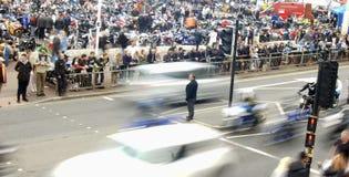 Οι ποδηλάτες συλλέγουν σε ένα φεστιβάλ ποδηλάτων παραλιών Στοκ φωτογραφία με δικαίωμα ελεύθερης χρήσης