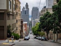 Οι πολύ απότομες οδοί, Σαν Φρανσίσκο Στοκ εικόνες με δικαίωμα ελεύθερης χρήσης