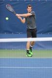 Οι πρακτικές του Andy Murray πρωτοπόρων του Grand Slam για τις ΗΠΑ ανοίγουν το 2014 Στοκ Εικόνες