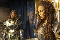 Οι προσωπικότητες Warcraft κηρώνουν τους αριθμούς Στοκ εικόνες με δικαίωμα ελεύθερης χρήσης