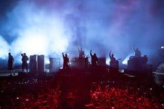 Οι προφήτες της ζώνης μουσικής οργής αποδίδουν στη συναυλία Download στο φεστιβάλ μουσικής βαρύ μετάλλου στοκ εικόνες με δικαίωμα ελεύθερης χρήσης