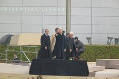 Οι πρώην ΗΠΑ Πρόεδρος Thomas Jefferson χαρακτηρίζονται obverse της σημείωσης S Σημεία Προέδρου Bill Clinton από το στάδιο που συν Στοκ εικόνες με δικαίωμα ελεύθερης χρήσης