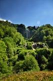Οι πτώσεις Cascata delle Marmore Marmore είναι ένας προκαλούμενος από τον άνθρωπο καταρράκτης που δημιουργείται από τους αρχαίους στοκ φωτογραφίες με δικαίωμα ελεύθερης χρήσης