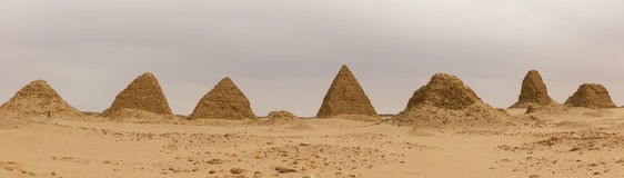 Οι πυραμίδες σε Nuri στοκ φωτογραφία με δικαίωμα ελεύθερης χρήσης