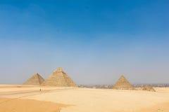 Οι πυραμίδες Giza Στοκ Φωτογραφία