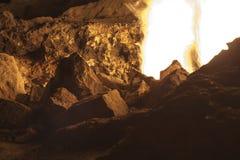 Οι πυρκαγιές Yanartas τη νύχτα Στοκ Εικόνες