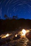 Οι πυρκαγιές Yanartas τη νύχτα, Antalya, Τουρκία Στοκ εικόνα με δικαίωμα ελεύθερης χρήσης