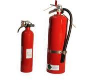 οι πυροσβεστήρες βάζουν φωτιά σε δύο στοκ φωτογραφίες με δικαίωμα ελεύθερης χρήσης