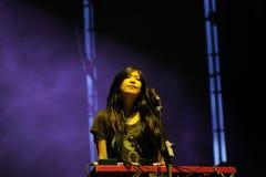 Οι πόνοι της ύπαρξης καθαροί στη ζώνη καρδιών αποδίδουν στο φεστιβάλ μουσικής του σαντάντερ Στοκ Φωτογραφίες