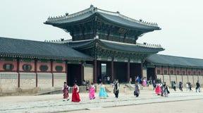 Οι πόρτες παλατιών στο παλάτι στη Σεούλ, Νότια Κορέα , Μια από τις τρεις πόρτες στην πύλη Heunginjimun παλατιών Στοκ Εικόνα