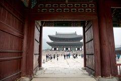 Οι πόρτες παλατιών στο παλάτι στη Σεούλ, Νότια Κορέα , Μια από τις τρεις πόρτες στην πύλη Heunginjimun παλατιών Στοκ φωτογραφία με δικαίωμα ελεύθερης χρήσης