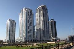 Οι πύργοι Γκρόζνυ-πόλεων, Τσετσενία στοκ εικόνα