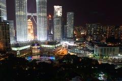 Οι πύργοι Petronas Στοκ Φωτογραφίες