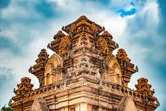 Οι πύργοι Po Nagar κοντά σε Nha Trang στο Βιετνάμ Στοκ Εικόνες