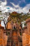 Οι πύργοι Po Nagar κοντά σε Nha Trang στο Βιετνάμ Στοκ εικόνα με δικαίωμα ελεύθερης χρήσης
