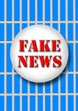 Οι πλαστές ειδήσεις με τους φραγμούς Στοκ φωτογραφία με δικαίωμα ελεύθερης χρήσης