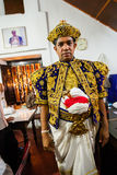 Οι δράστες ντύνουν επάνω για Kandy Esala Perahera Στοκ φωτογραφία με δικαίωμα ελεύθερης χρήσης