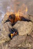 Οι σβόλοι κοπριάς αγελάδων χρησιμοποίησαν την ινδική κουζίνα για το μαγείρεμα Ξηρά κοπριά αγελάδων για μια πυρκαγιά στο Rajasthan στοκ φωτογραφία