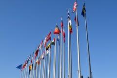 Οι σημαίες της ΕΕ δηλώνουν το σύμβολο της ένωσης 06 Στοκ εικόνα με δικαίωμα ελεύθερης χρήσης