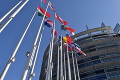 Οι σημαίες της ΕΕ δηλώνουν το σύμβολο της ένωσης 04 Στοκ φωτογραφία με δικαίωμα ελεύθερης χρήσης