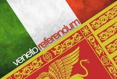 Οι σημαίες της Ιταλίας και του Βένετο Στοκ φωτογραφίες με δικαίωμα ελεύθερης χρήσης