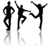 Οι σκιαγραφίες των χορευτών στην έννοια χορού Στοκ φωτογραφία με δικαίωμα ελεύθερης χρήσης