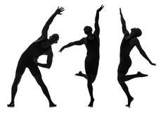 Οι σκιαγραφίες των χορευτών στην έννοια χορού Στοκ Εικόνες