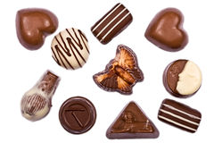 οι σοκολάτες κλείνου&nu Στοκ Εικόνες