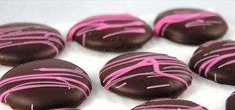 οι σοκολάτες κλείνου&nu Στοκ Φωτογραφία