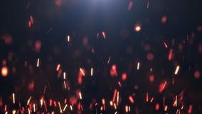 Οι σπινθήρες σε ένα σκοτεινό υπόβαθρο Στοκ Εικόνα